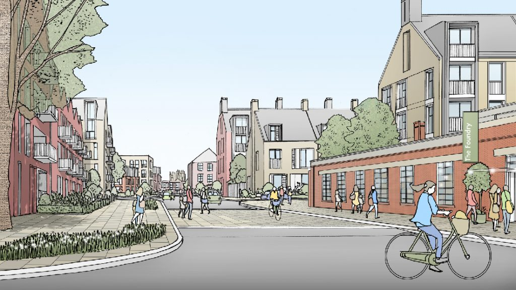 Artist's impression of the proposed York Central scheme