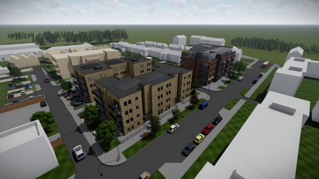 John Barker Place, Hitchin, Hertfordshire - settle's £20m regeneration of the Westmill Estate in Hitchin